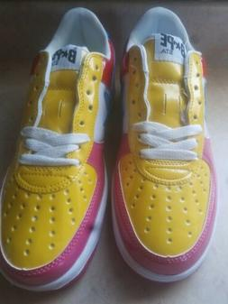 A BATHING APE BAPE STA FOOT SOLDIER FS-001 SNEAKERS PINK MUL