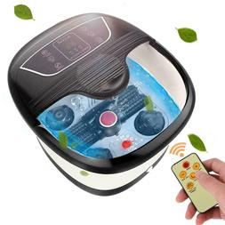All-In-One Foot Spa Bath Automatic Massager Temp/Time Set Ro