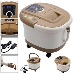 All-In-One Foot Spa Bath Massager Tool Tem/Time Heat Bubble