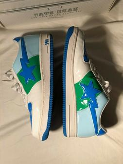 BAPE BATHING APE BAPE STA FOOT SOLDIER SIZE 12 WHITE BLUE 20