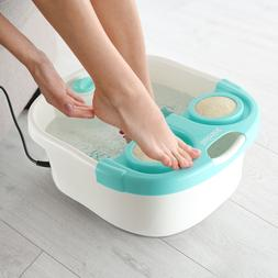 Belmint Foot Spa Bath Massager with 4 Rollers, Bubbles & Kee