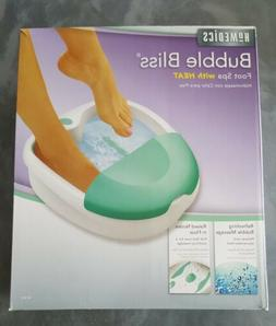 Bubble Bliss Luxury Foot Bath Spa Massager NEW Homedics Soot