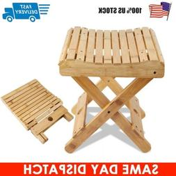 Folding Bamboo Shower Bench Bathroom Spa Bath Organizer Chil