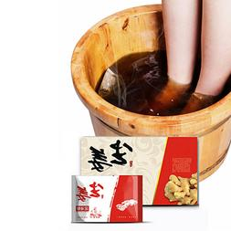 Foot Bath Powder Chinese Herbal & Ginger Bag Relax Foot Care