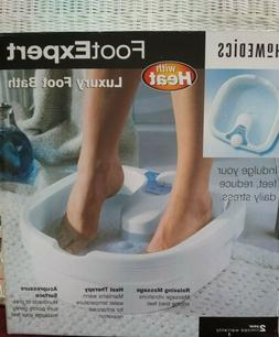 Homedics foot expert, luxury foot bath with heat and massage