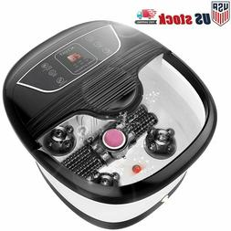 ACEVIVI Foot Spa Bath Massager Bubble Heat LED Display Infra