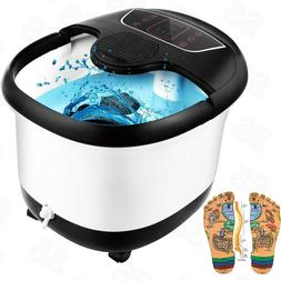 Foot Spa Bath Massager Adjustable Heat Bubble Hot Water Fall