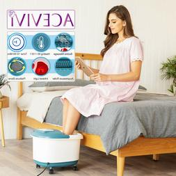 Home Use Foot Spa Bath Massager Bubble Heat LED Display Infr