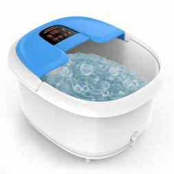 Foot Spa/Bath Massager With Bubbles And Lights, Arealer Foot
