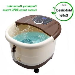 Foot Spa Bath Massager with Heat,16 Pedicure Spa Motorized S