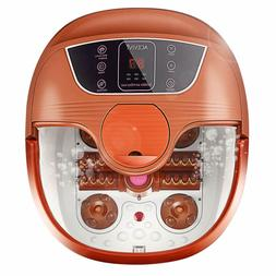 Foot Spa Bath Massager with Heat and Bubble Jets, Up & Down