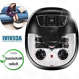 ACEVIVI Foot Spa Bath Massager with Heat and Massage and Bub