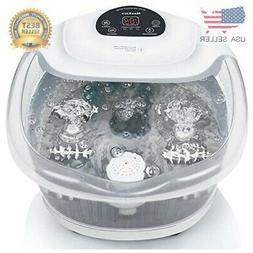 Foot Spa/Bath Massager with Heat Bubbles Vibration 3 in 1 Fu