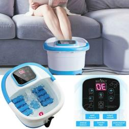Foot Spa Bath Motorized Massager w/Heat/Bubbles/Rollers/Temp