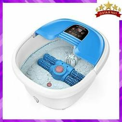 FOOT SPA MASSAGER Bath with Heat Automatic Massaging Rollers