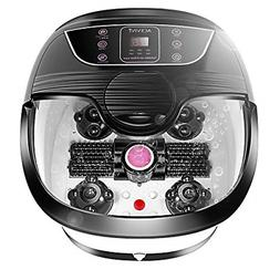 Foot Spa Massager with Heat Bath Motorized Massage Rollers P