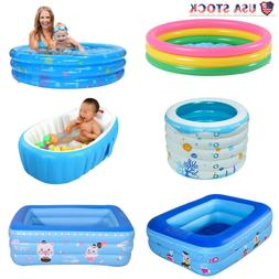 Inflatable Kiddie Pool Kid Swimming Pool Baby Foldable Batht