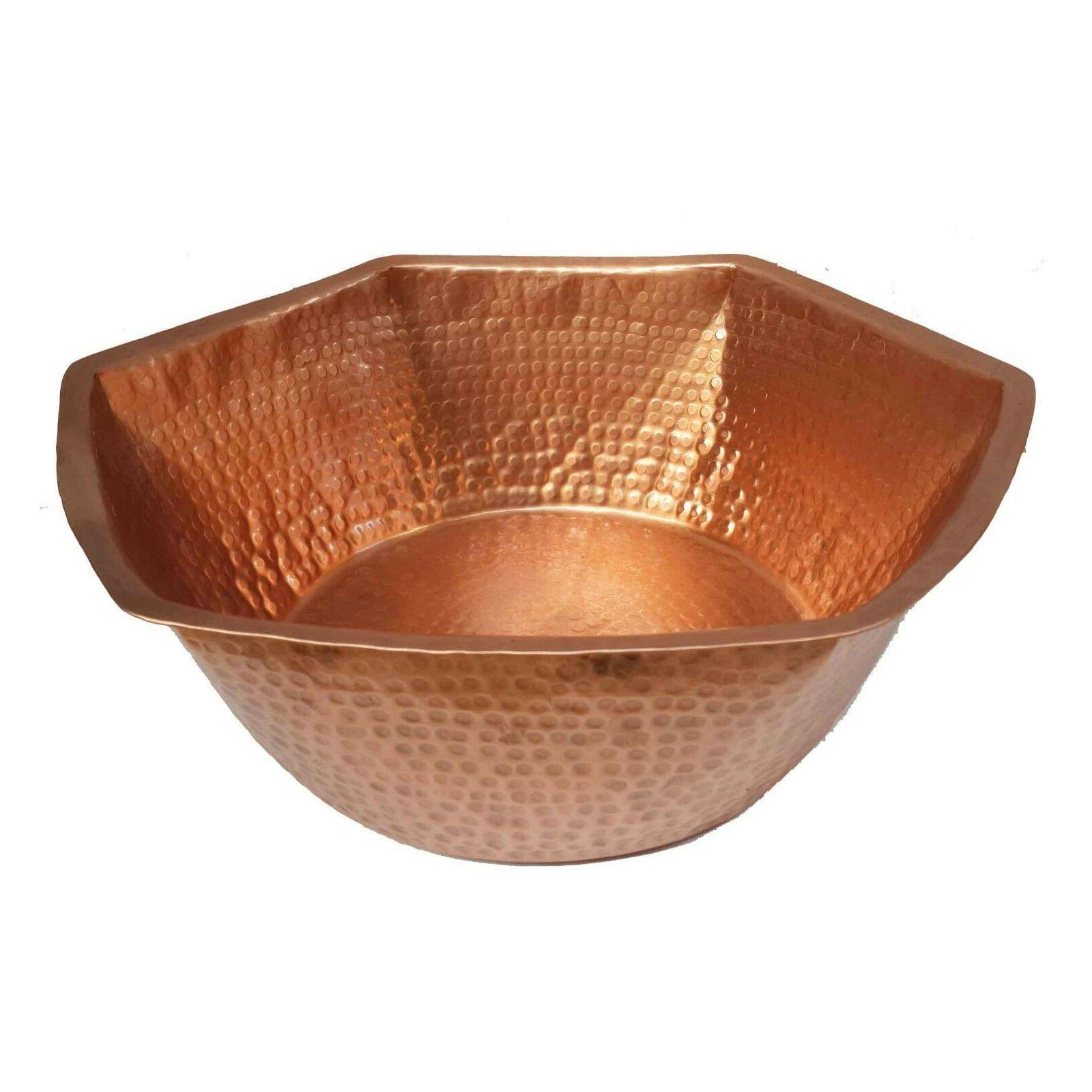 Hexagonal Bare Copper Foot Bath Massage Spa Beauty Salon The
