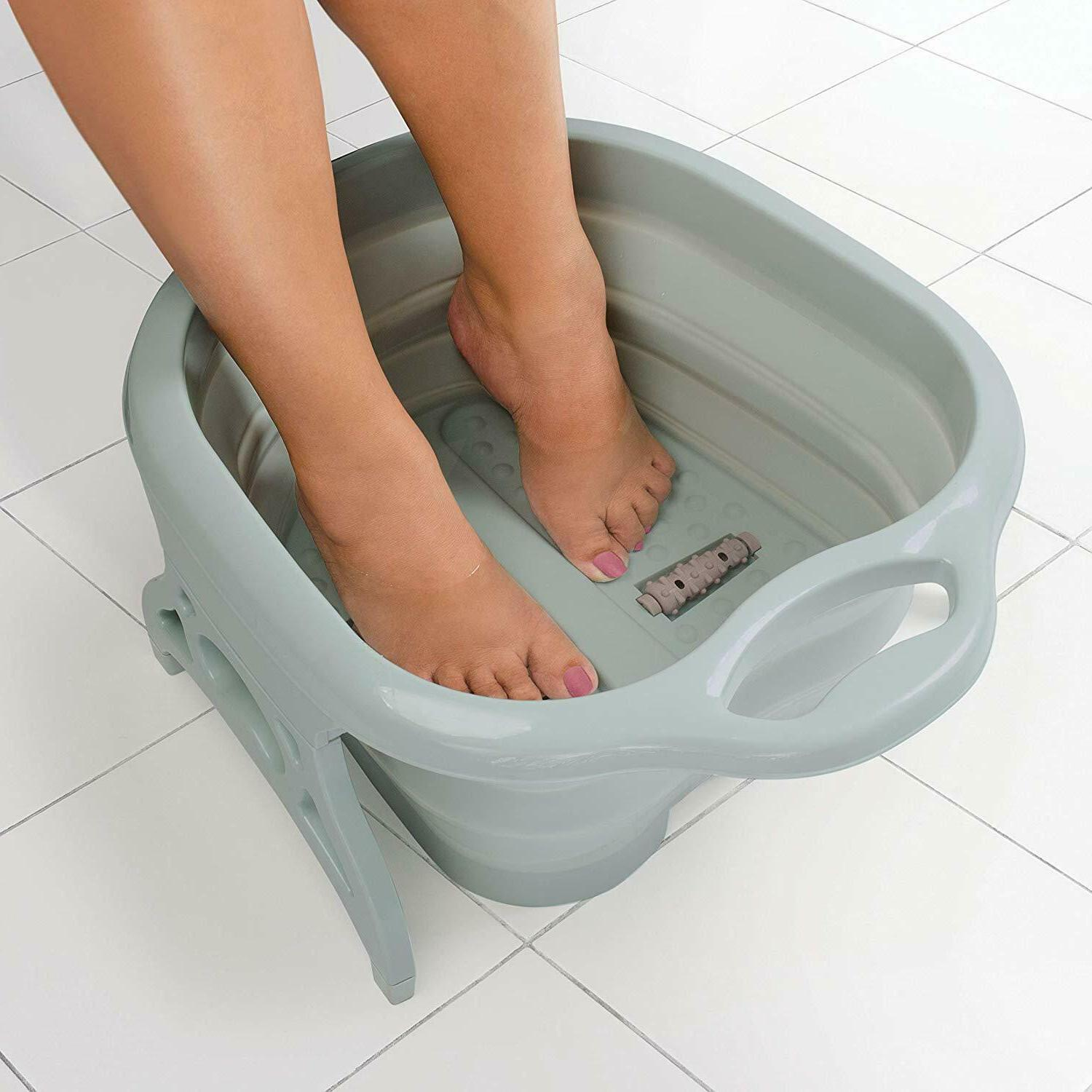 Collapsible with Foot Massager Rollers Pedicure Tub Kit Stress Relief