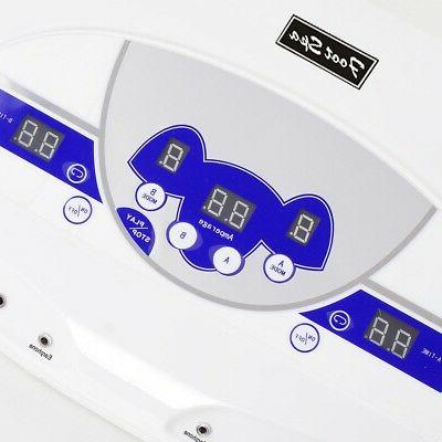 110V Dual User Ionic Cell Relax Foot Bath Spa Machine 10 Sta
