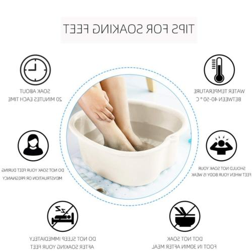 Foot Bath Sturdy Plastic Massage Dots Portable