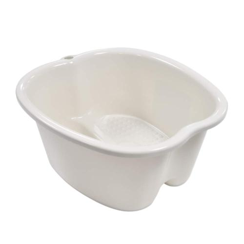 Foot Soaking Bath Sturdy Dots Portable DirtyWhite