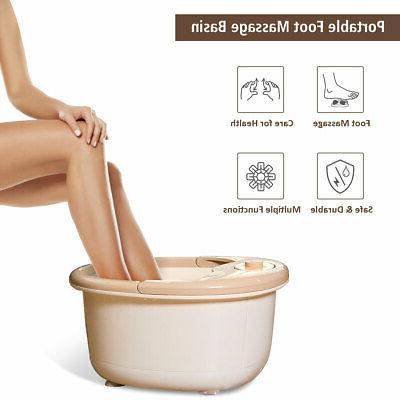 Foot Spa Bubble Heat Comfrot Red Light Temperature Control