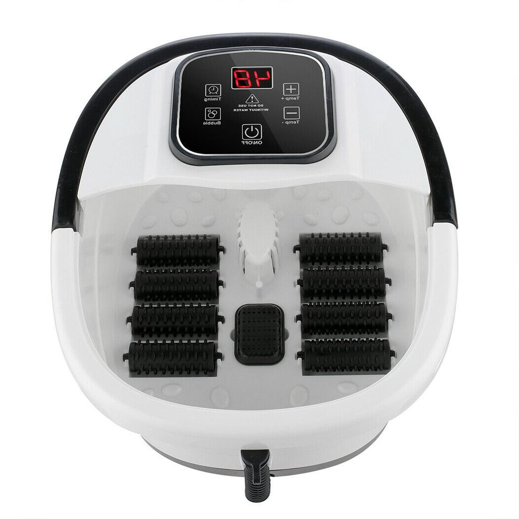 Foot with Bubbles Massage Temp Timer