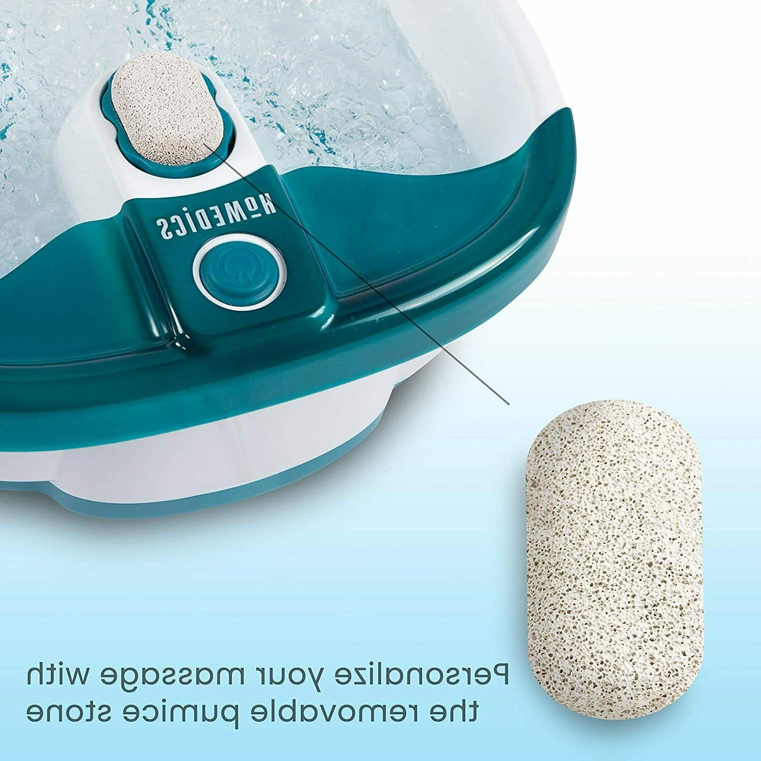 Foot Spa Feet Bath Jets Massager Toe-Touch Control Bubbles