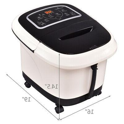 Foot Spa w/ Vibration Tem/Time Set 4 Bubble Jets