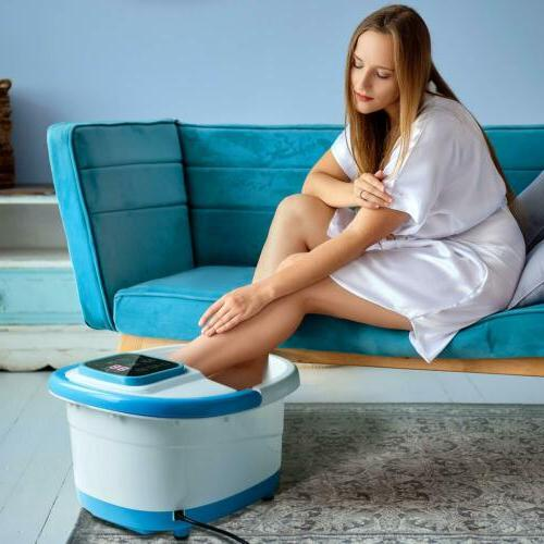 Foot Bath w/ Heat/Bubbles/Rollers/Temperature Control Relief