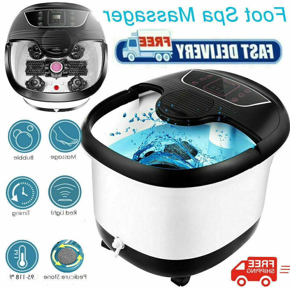2021 Model Foot Spa Bath Massager with Massage Rollers Heat