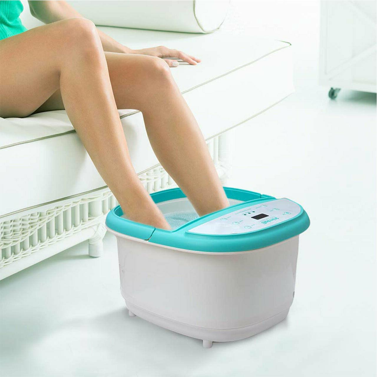 Foot Massager with Heat Soaking Tub Features 6 Pressure