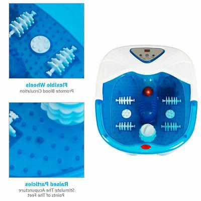 Heated Massage LCD Foot Spa Bubbles 4 Massager