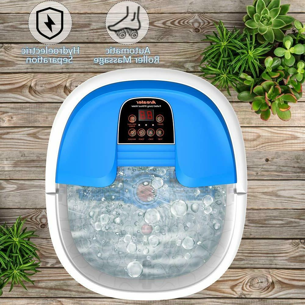 New in Arealer Portable Foot Spa Bath Massage