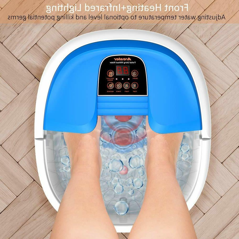 New in Arealer Portable Foot Bath Massager Massage