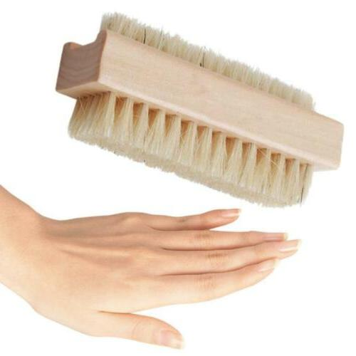 new double sided wooden nail brush bath