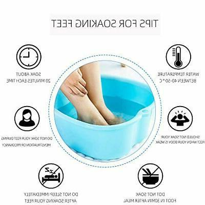 Portable Tub Spa With Dots Relaxer Bin