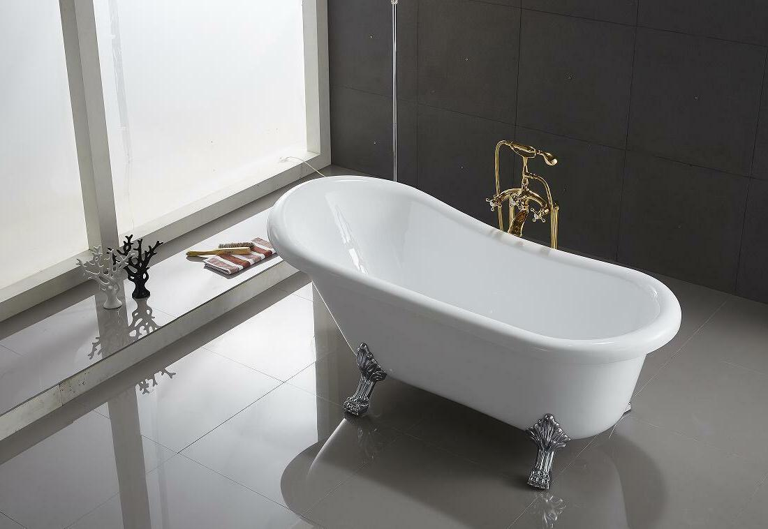 ringsted oval shaped acrylic claw foot bath