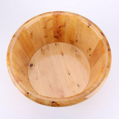 Thick Wooden Foot Basin Barrel for