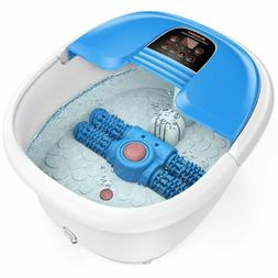 New 6 in 1 Arealer Portable Foot Spa Bath Massager Bubble He