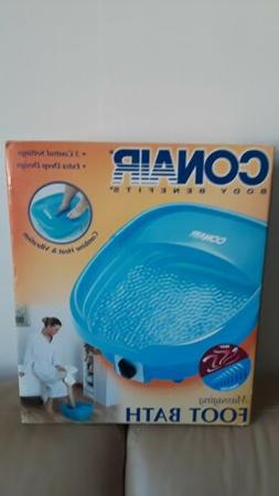New Conair Body Benefits massaging foot bath with heat