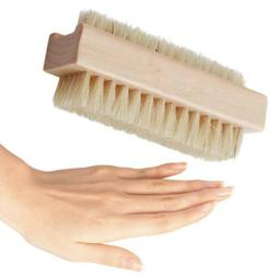New Double Sided Wooden Nail Brush Bath Cleaning Hand and Fo