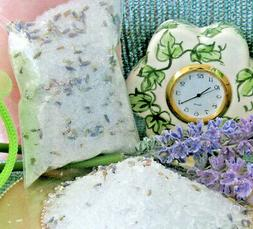 NEW NATURAL LAVENDER, MENTHOL & WILD ROSEMARY-MINT BATH SALT