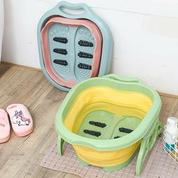 Portable Collapsible Foot Tub Spa Rolling Massage Feet Relax