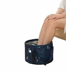 Portable Foot Bath Tub for Travel, Collapsible Foot Soak Spa