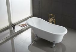 Ringsted Oval Shaped Acrylic Claw foot Bath Tub Freestanding