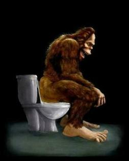 Sasquatch Sitting On Toilet Men Shirt Mothers Day Gift Print